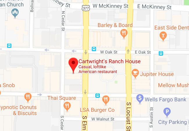 Cartwright's Ranch House Map